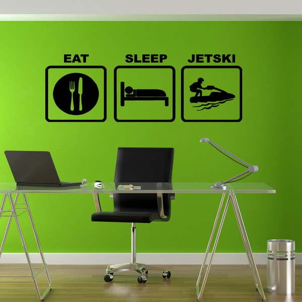 Eat Sleep Jet ski Sticker Vinyl Wall Art