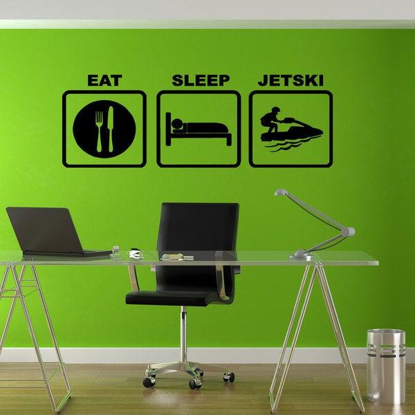Eat Sleep Jet ski Sticker Vinyl Wall Art