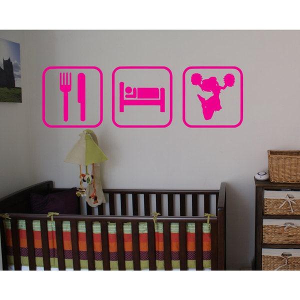 Eat Sleep Cheer Sticker Vinyl Wall Art