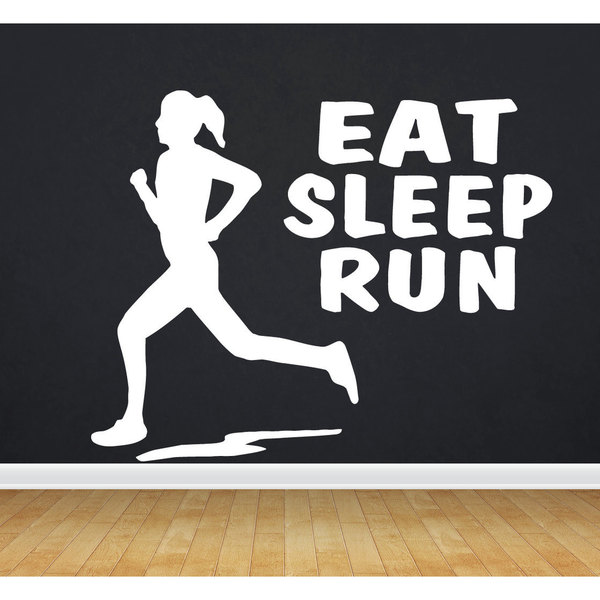 Eat Sleep Run Sticker Vinyl Wall Art