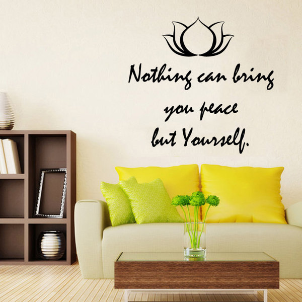Nothing Can Bring You Peace But Yourself Quote Sticker Vinyl Wall Art