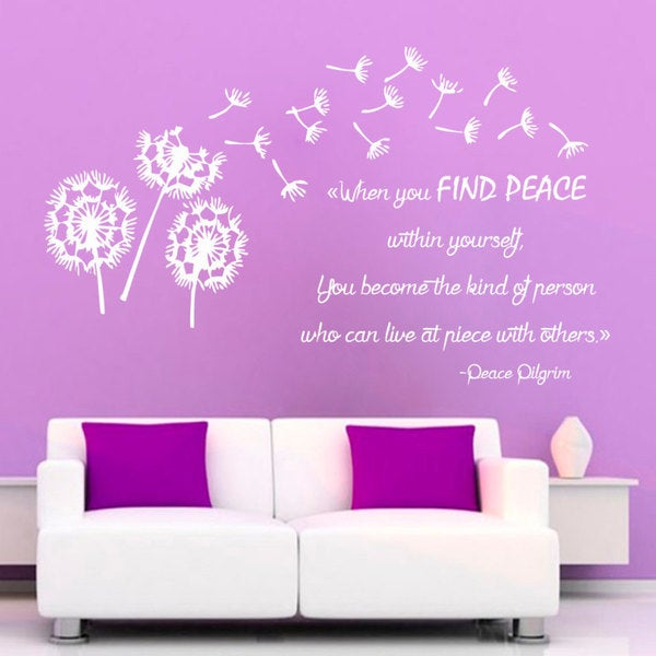 When You Find Peace Within Quote Sticker Wall Decal