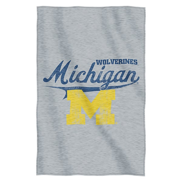 Michigan Sweatshirt Throw Blanket