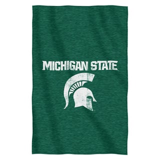 Michigan State Sweatshirt Throw Blanket