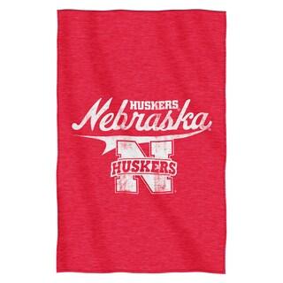 Nebraska Sweatshirt Throw Blanket