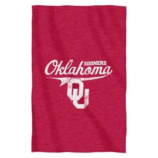 Oklahoma Sweatshirt Throw Blanket