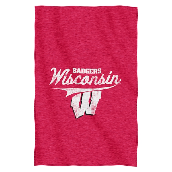 Wisconsin Sweatshirt Throw Blanket