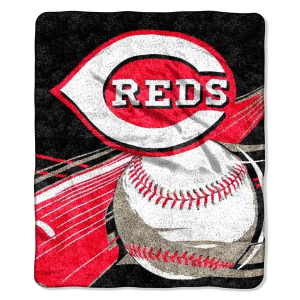 Reds Sherpa Throw Blanket