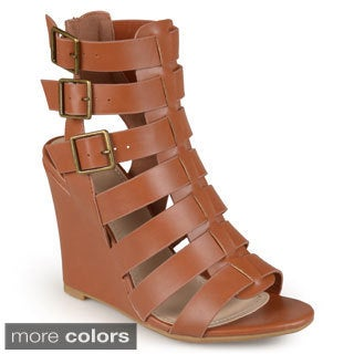 Journee Collection Women's 'Posey' Open Toe Gladiator Wedges