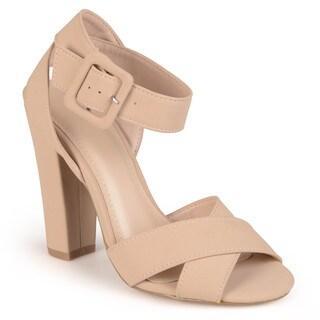 Journee Collection Women's 'Zahara' Open Toe Ankle-strap Heels
