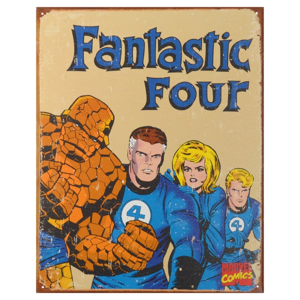 Vintage Metal Art Decorative 'Fantastic Four Retro' Tin Sign 15088853