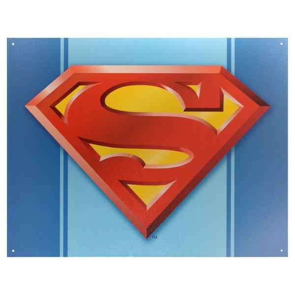 Vintage Metal Art Decorative 'Superman Logo' Tin Sign 15088854