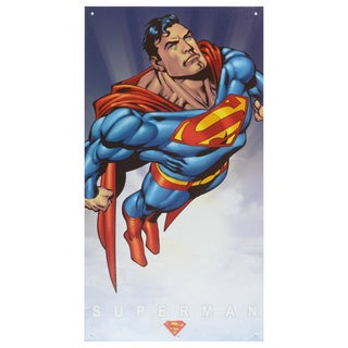 Vintage Metal Art Decorative 'Superman Classic' Tin Sign