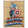Vintage Metal Art Decorative 'Captain America Retro Panels' Tin Sign