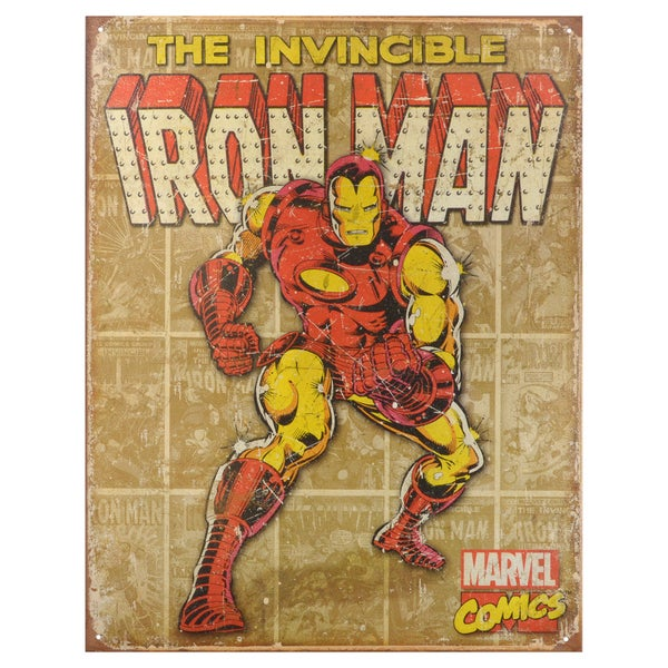 Vintage Metal Art Decorative 'Retro Panels' Tin Sign 15088865