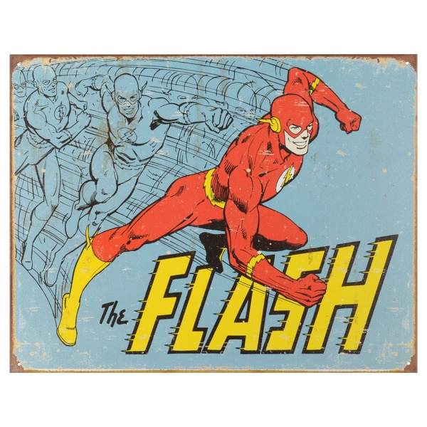 Vintage Metal Art Decorative 'The Flash Retro' Tin Sign 15088866