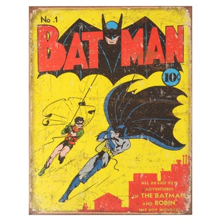 Vintage Metal Art Decorative 'Batman No. 1 Cover' Tin Sign