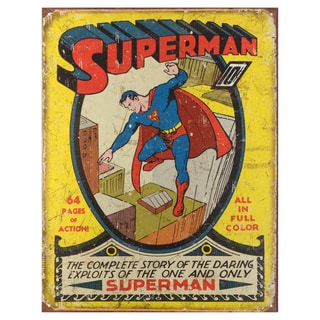 Vintage Metal Art Decorative 'Superman No. 1 Cover' Tin Sign