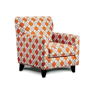 Furniture of America Dollee Dotted Contemporary Club Chair