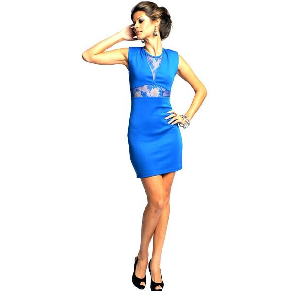 Sara Boo Women's See-through Lace Detail Dress