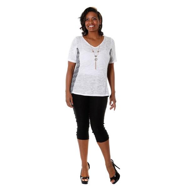 Hadari Women's 2-piece Casual Blouse and Capri Pants