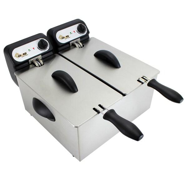 Chard DF-6E 6.0 Liter Dual Deep Fryer
