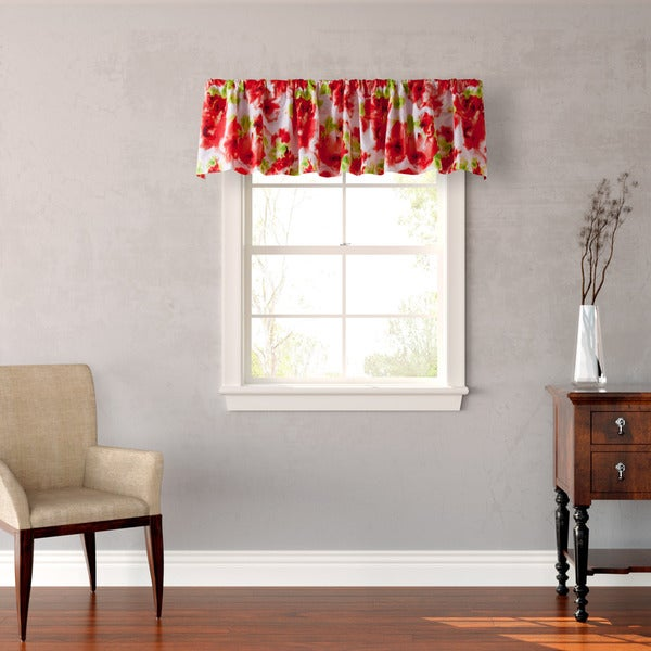 Teen Vogue Painted Poppy Window Valance