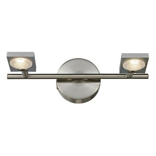 Reilly Brushed Nickel/ Brushed Aluminum 2-light Lighting Fixture
