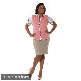 Hadari Women's Plus High Waisted Pencil Skirt