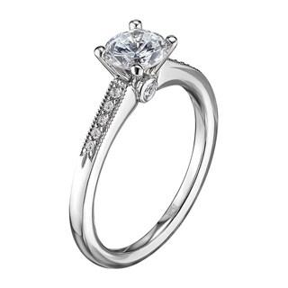 Scott Kay Palladium Silver 1/8ct TDW Diamond Semi Mount Engagement Ring (G-H, VS2)