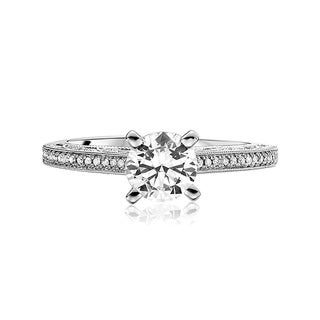Scott Kay Palladium Silver 1/5ct TDW Diamond Semi Mount Engagement Ring (G-H, VS2)