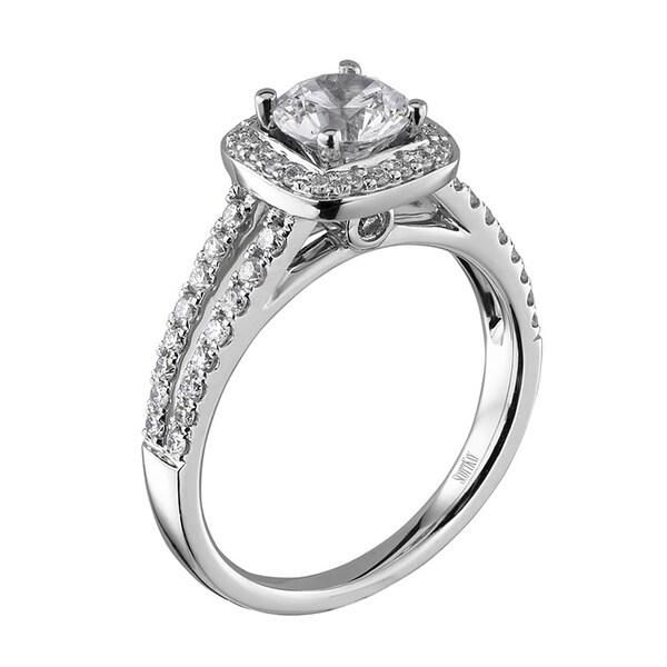 Scott Kay Palladium Engraved Three Sided Diamond Wedding: Scott Kay Palladium Silver 2/5ct TDW Diamond Semi Mount