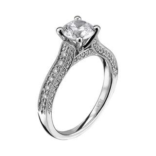 Scott Kay Palladium Silver 2/5ct TDW Diamond Semi Mount Engagement Ring (G-H, VS2)