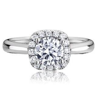 Scott Kay Palladium Silver 1/3ct TDW Diamond Semi Mount Engagement Ring (G-H, VS2)