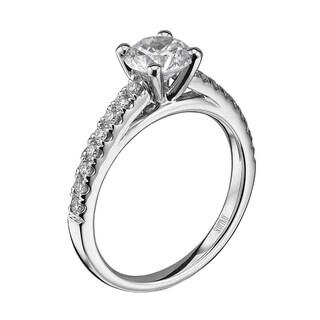 Scott Kay Palladium Silver 1/4ct TDW Diamond Semi Mount Engagement Ring (G-H, VS2)