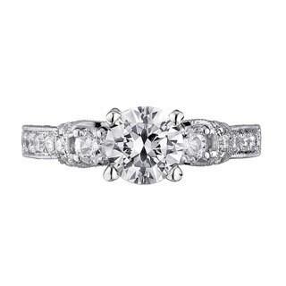 Scott Kay Palladium Silver 7/8ct TDW Diamond Semi Mount Engagement Ring (G-H, VS2)