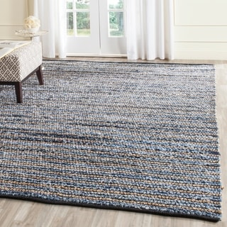 Safavieh Hand-Woven Cape Cod Blue/ Natural Cotton/ Jute Rug (9' x 12')
