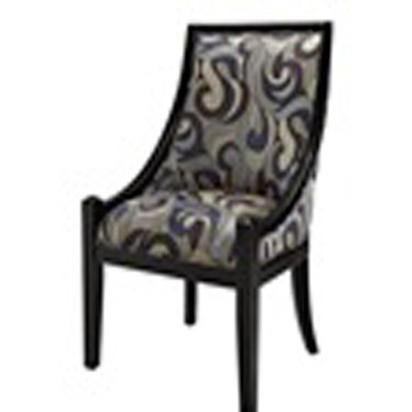 Oh Home Lenore Accent Chair Blue Swirl 17148232