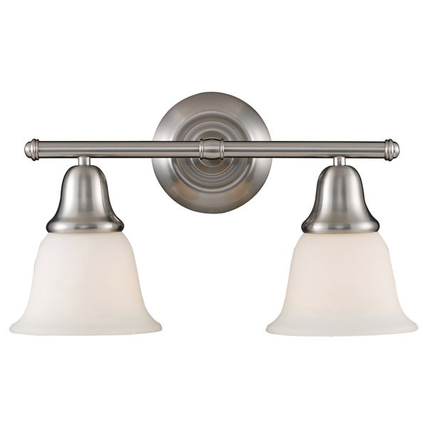 Berwick Brushed Nickel 2-light Vanity