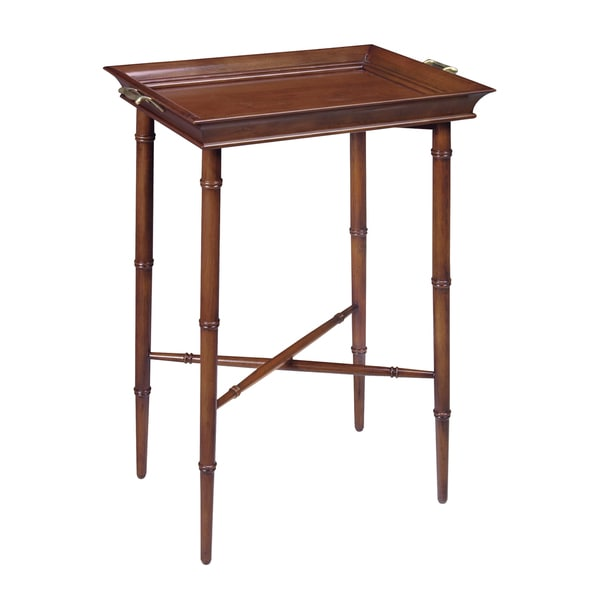 Piccadilly Cherry Wood Tray Accent Table