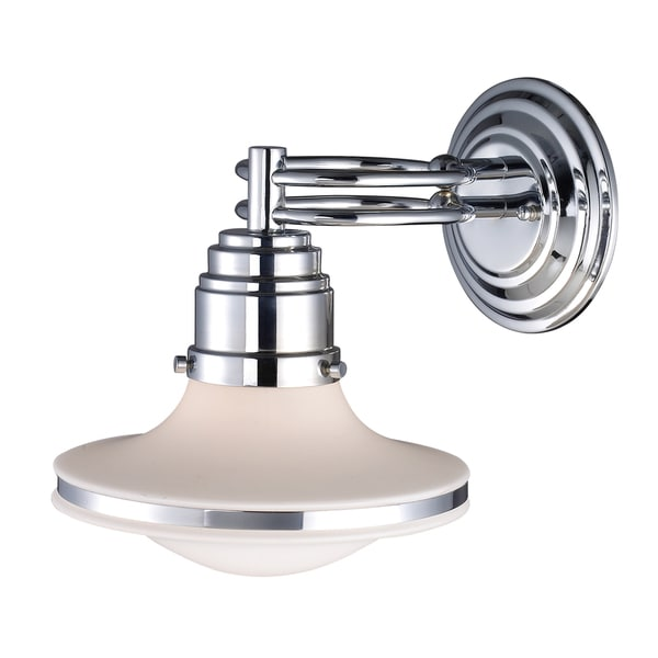 Retrospective Polish Chrome 1-light Sconce