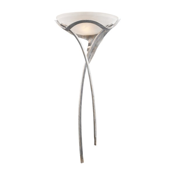 Aurora Tarnished Silver Finish 1-light Sconce