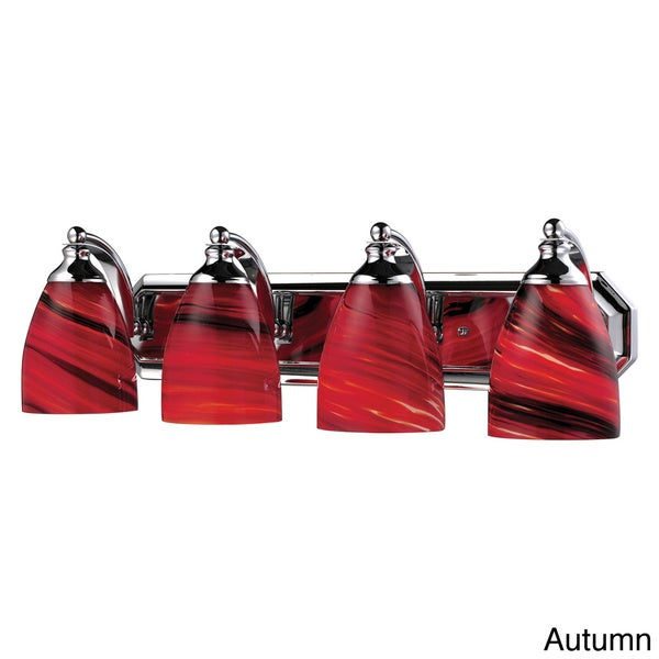 Celina Polished Chrome 4-light Vanity