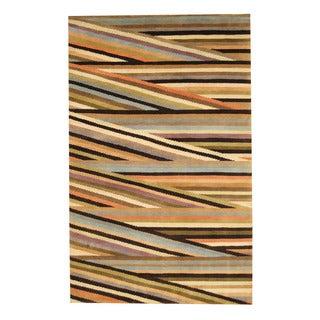 Herat Oriental Indo Hand-knotted Tibetan Brown/ Ivory Wool Rug (5' x 8')