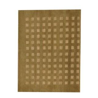 Herat Oriental Indo Hand-knotted Tibetan Brown/ Beige Wool Rug (3'8 x 5'6)