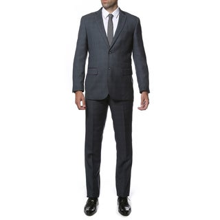 Zonettie-Ferrecci Mens Slim Fit Plaid 2-button Suit