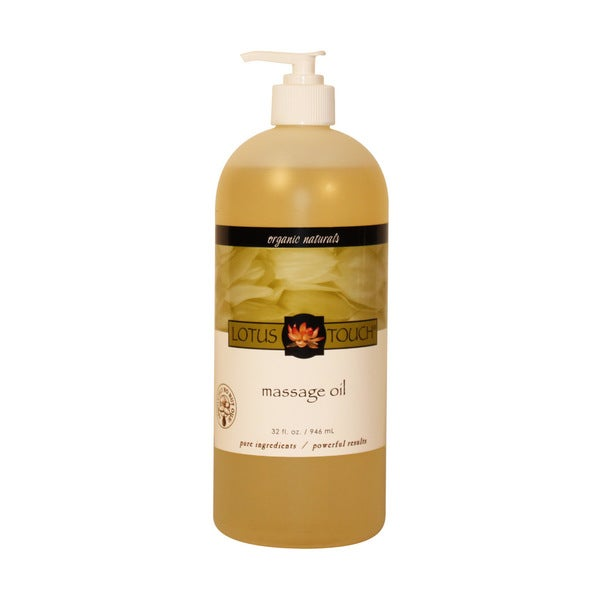 Lotus Touch Organic Naturals Massage Oil 32 Oz