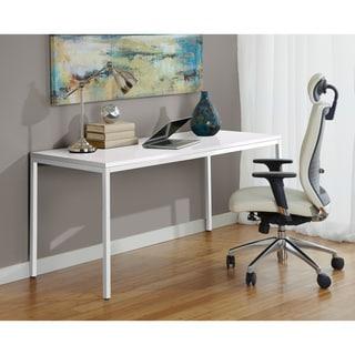 White 63-inch Parsons Desk