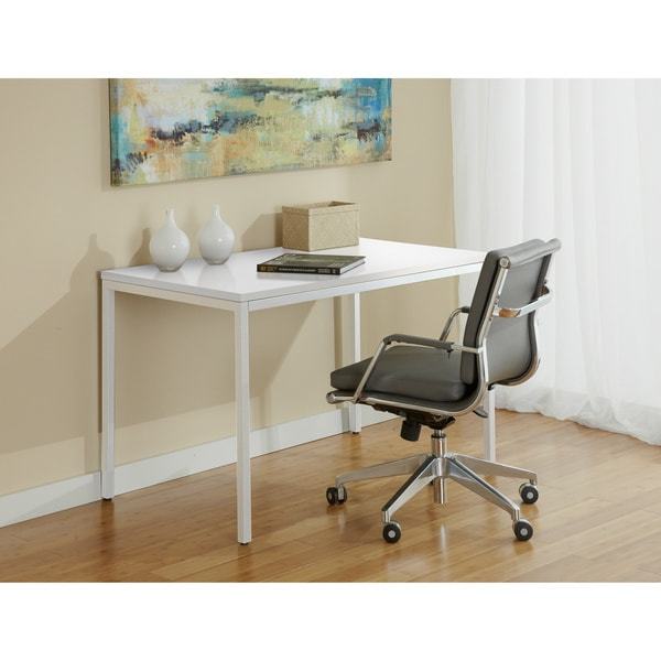 White 47-inch Parsons Desk