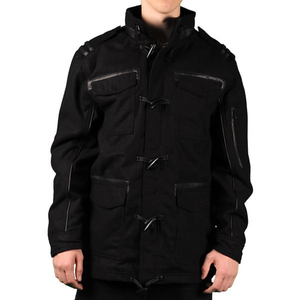 Sportier Men's Wool Blend Toggle Jacket